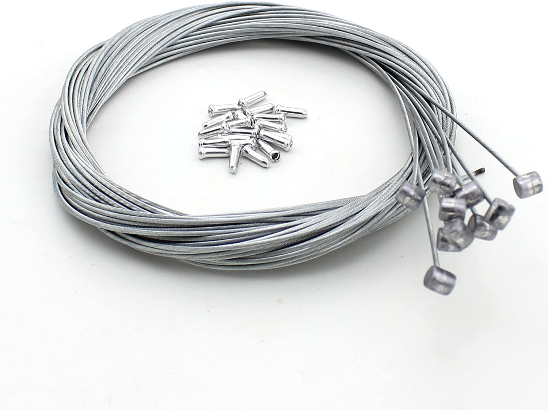 "BICYCLE BIKE Brake 68/"" Cable 2 Caps 60/"" Housing Braid RED"