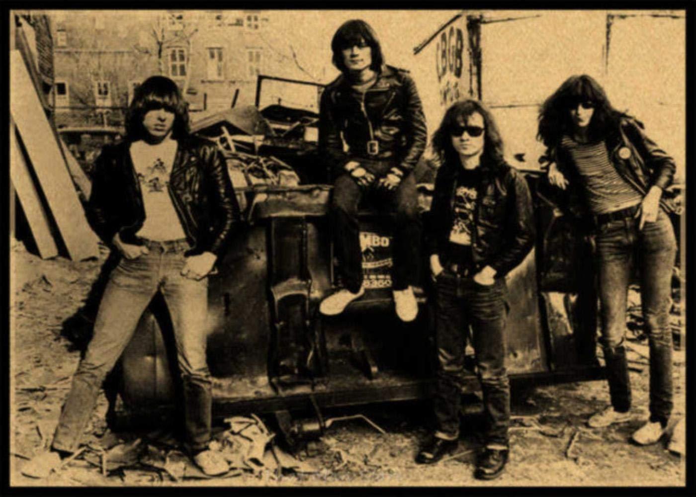 Ramones banda guitarra de rock retro vintage en música ...