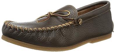Speical Offer Men Minnetonka Street Moc Loafer Black - C5Y65H7550