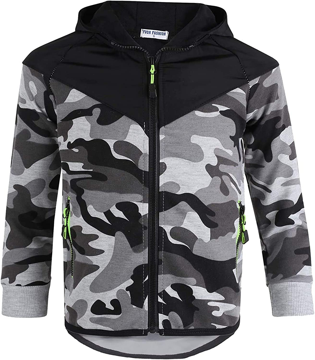LOTMART Boys Quilted Hood Trousers or Jumper Camouflage Print