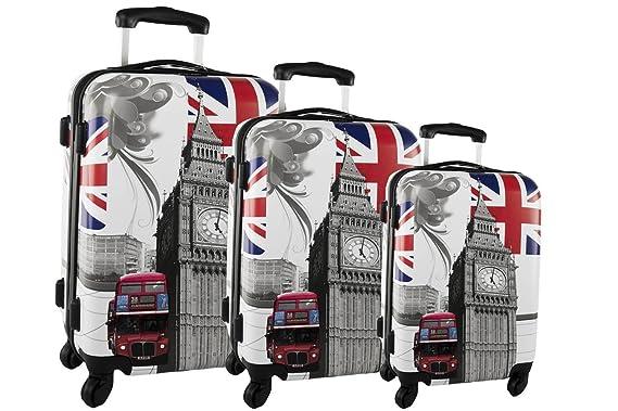 3 Maletas rígidas BAOP fantasía BIG BEN cabina para viajes S199: Amazon.es: Ropa y accesorios