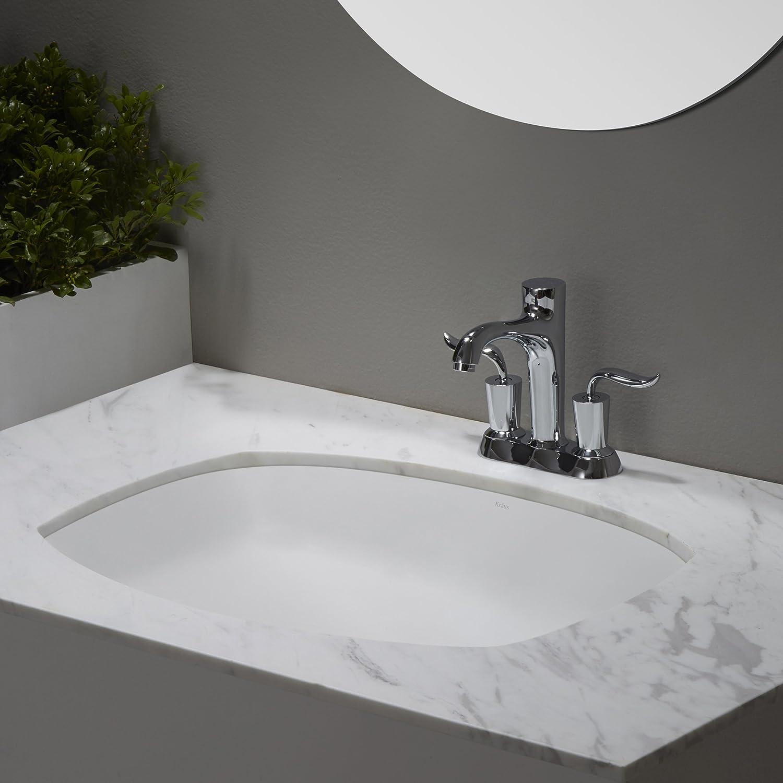 Kraus KCU-261 Elavo Bathroom Undermount Sink 24 Inch White