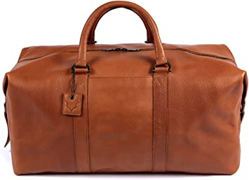 Real Leather Large Travel Hand Luggage Duffel Gym Bag Holdal Carry