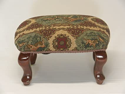 Fine Chicago Stool And Ottoman Co Queen Anne Pictorial Tapestry Footstools Opesn Season Dailytribune Chair Design For Home Dailytribuneorg