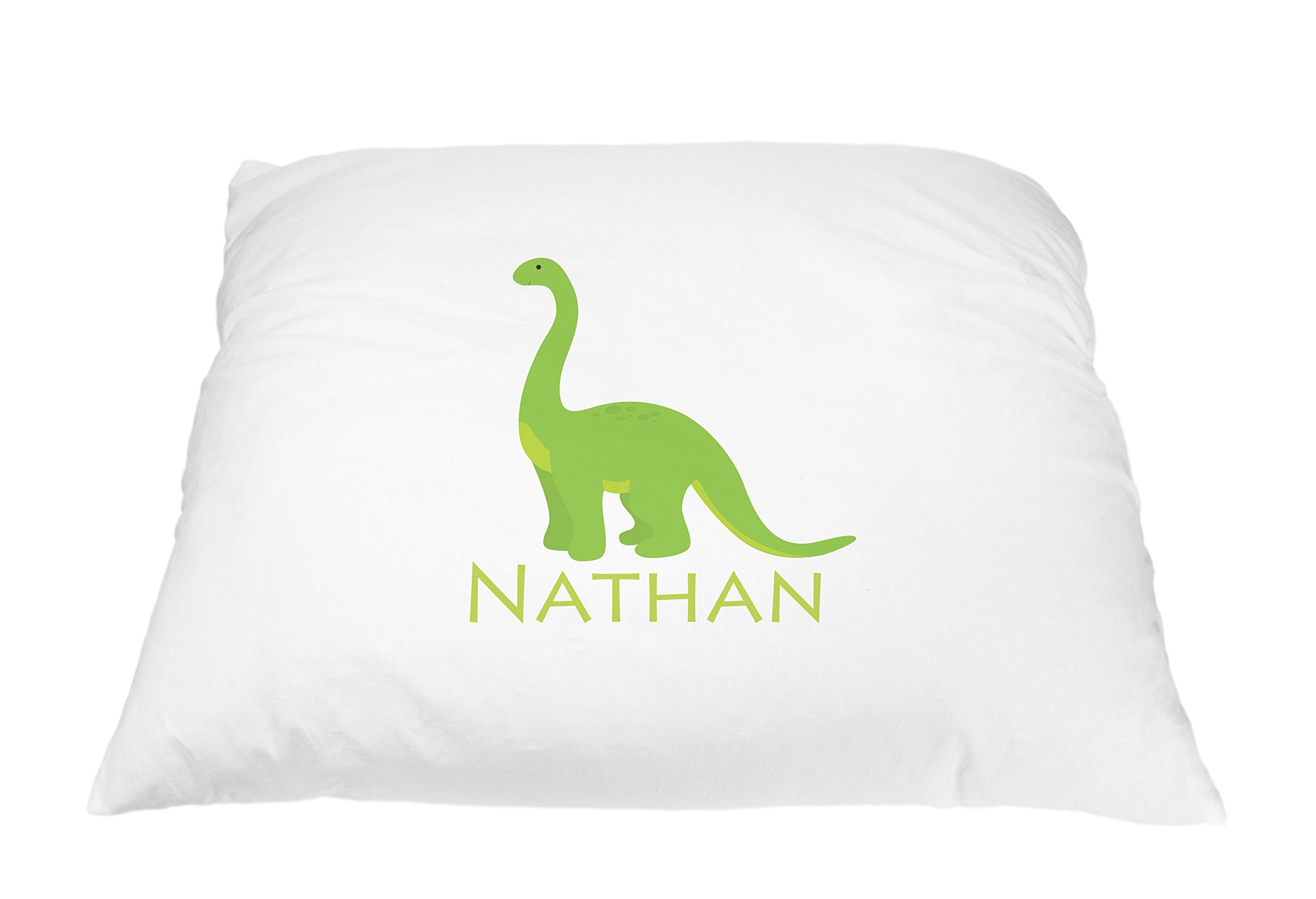Personalized Kid's Dino Pillowcase Microfiber Polyester 20 by 30 Inches, Dino Pillow Case for Dinosaur Kids Room, Dino Room Décor, Kids Pillow for Boys, Toddler Pillow Cover for Dino Bedding