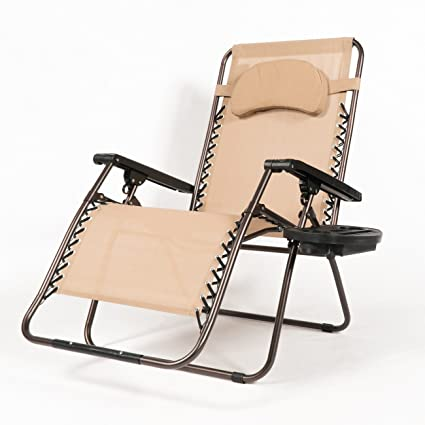 Attrayant Belleze Extra Large Oversized Zero Gravity Chair Recliner Super Durable  Reclining Patio Chair With Cup Holder