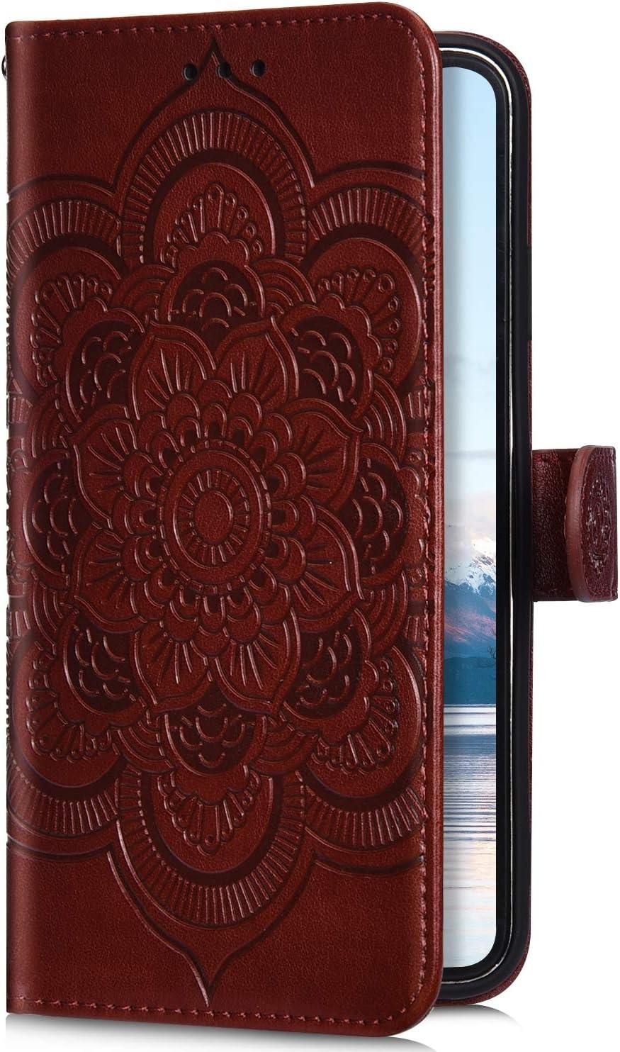 Robinsoni Compatible avec Huawei Y7 2019 Coque,Pochette Portefeuille en Cuir Housse de Protection,3D Mandala Fleur Coque /Étui /à Rabat Magn/étique Carte Slot Clapet Flip Case Cover Wallet,Vert