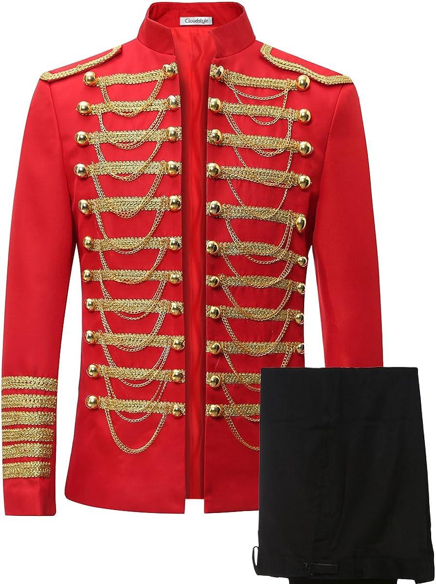 Men's Luxury Slim Fit Stylish Suit Blazer Jacket & Trousers Set 2-Piece 71Ynmds%2BXGL