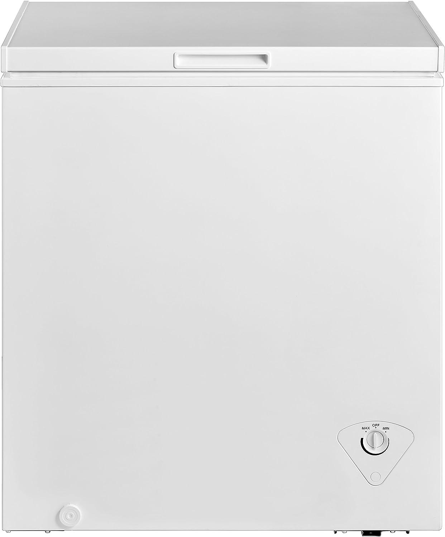 Amazon Com Midea Whs 185c1 Single Door Chest Freezer 5 0 Cubic Feet White Appliances