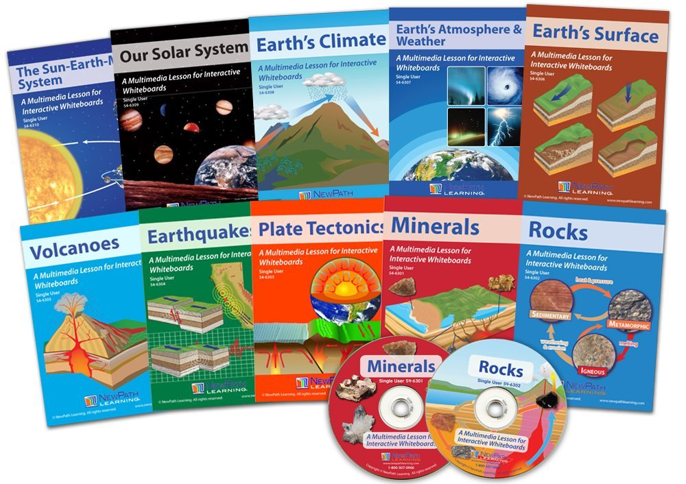 NewPath Learning 10 Piece Complete Earth Science Lessons Multimedia Set, Single User License (Renewed)