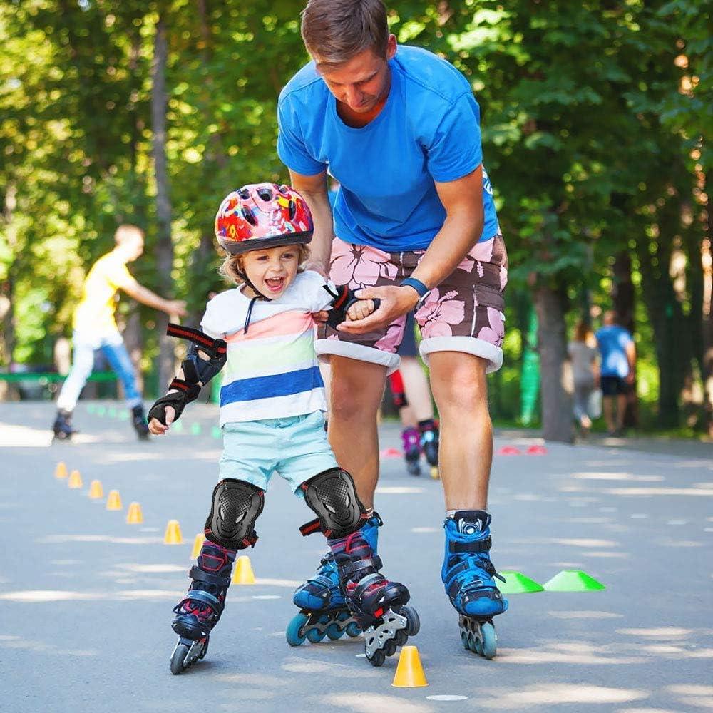 6PC//Set Adult Chidren Skate Wrist//Knee//Elbow Pad Skateboard Protection Safe Gear