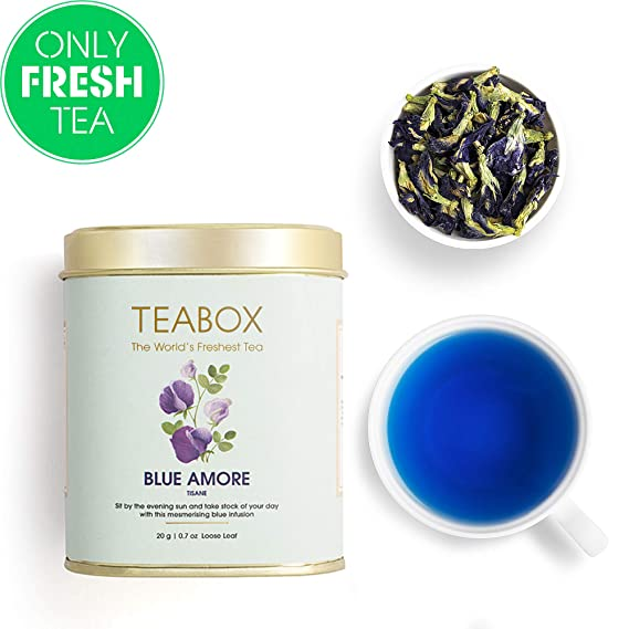 Teabox Exotic Blue Amore Tea 20g (40 Cups) | 100% Natural Anti-