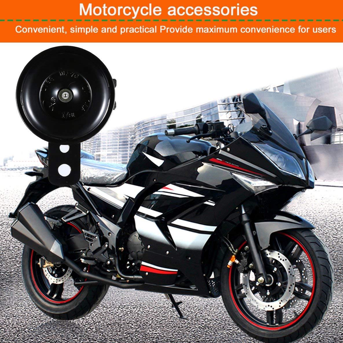 Noradtjcca Kit Universel de Moto /électrique klaxon 12V 1.5A 105db /étanche Haut-parleurs de klaxon pour Scooter cyclomoteur Dirt Bike ATV