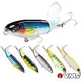 SeaKnight Whopper Plopper 1PC 13g 90mm/ 39g 130mm Topwater Fishing Lure Floating Lure Big Hard Bait VMC Hooks Carp Bass Fishing Lure