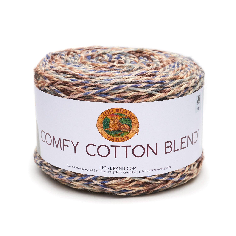 Lion Brand Yarn 756-710 Comfy Cotton Blend Yarn, Driftwood Lion Brand Yarn Company