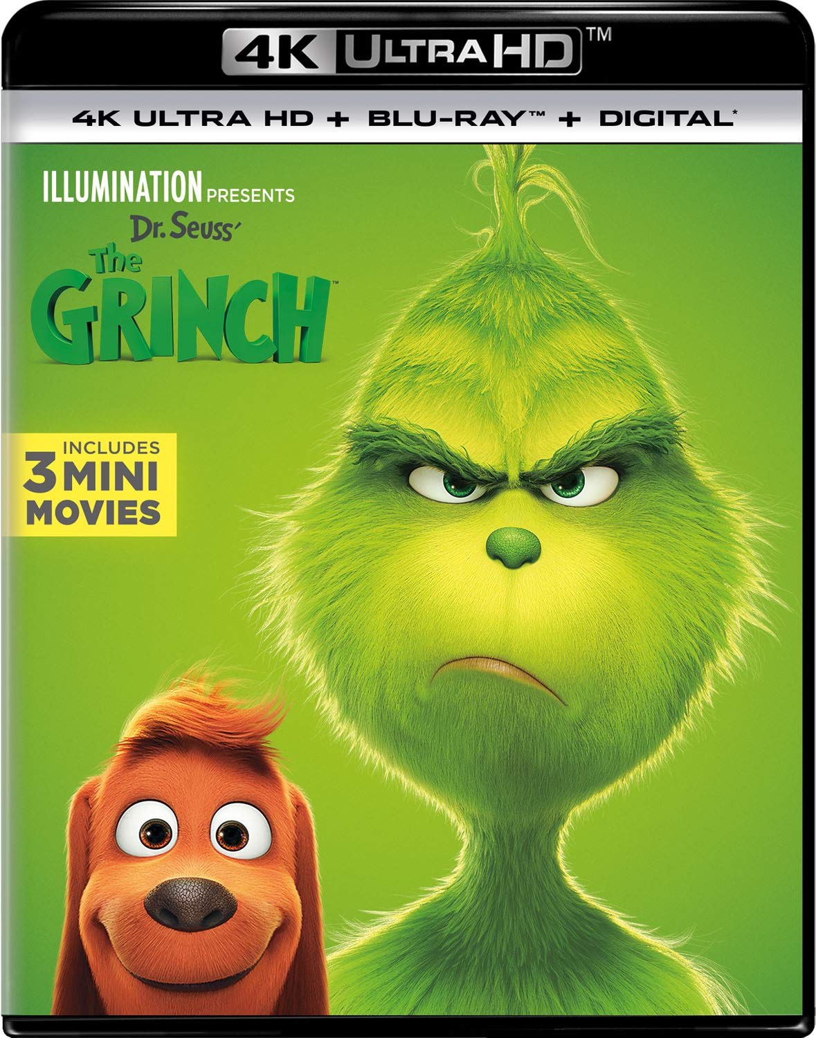 4K Blu-ray : Dr. Seuss' The Grinch (With Blu-ray, 4K Mastering, 2 Pack, Digital Copy)