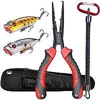 JOOKKI Alicates de pesca,alicates de acero inoxidable multiherramienta juego,18cm Removedor de Gancho, para pesca en…