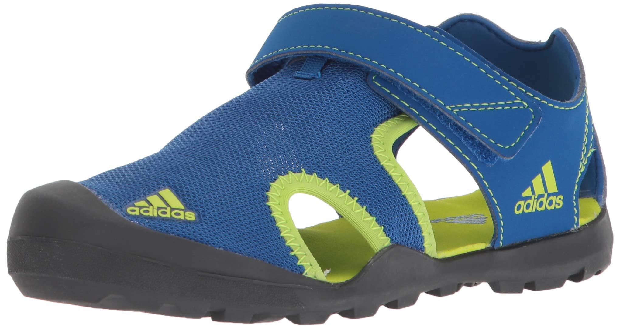 adidas outdoor Unisex Captain TOEY K, Blue Beauty/Solar Slime/Carbon 6 Medium Youth US Big Kid