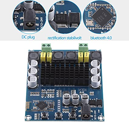 TPA3116D2 2x120W Wireless Bluetooth 4.0 Audio Receiver Digital Amplifier Board
