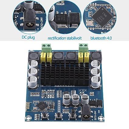 TPA3116D2 Wireless Bluetooth 4 0 Dual Channel 120W+120W Audio Receiver  Digital Amplifier Board DC 12V-24V for DIY Home Sound Car Audio