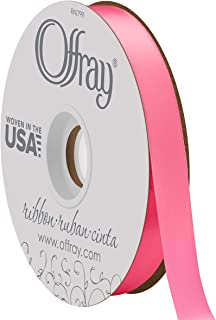 product image for Double Face Satin Ribbon, 50 Yards, Hot Pink