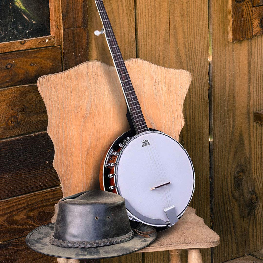 ADM 5-String Banjo 24 Bracket with Closed Solid Wood Back, Banjo Beginner Kit with Picks and Extra Strings by ADM (Image #3)