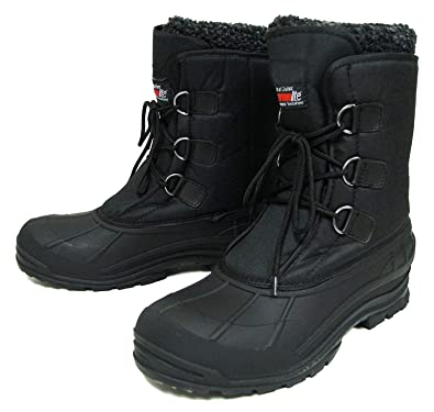 5f60219ee Amazon.com | G4U-MSB V-24S Climate X Men's Winter Boots Cold Weather  Waterproof Nylon Thermolite Insulated Hiking Warm Snow Shoes, Black | Snow  Boots