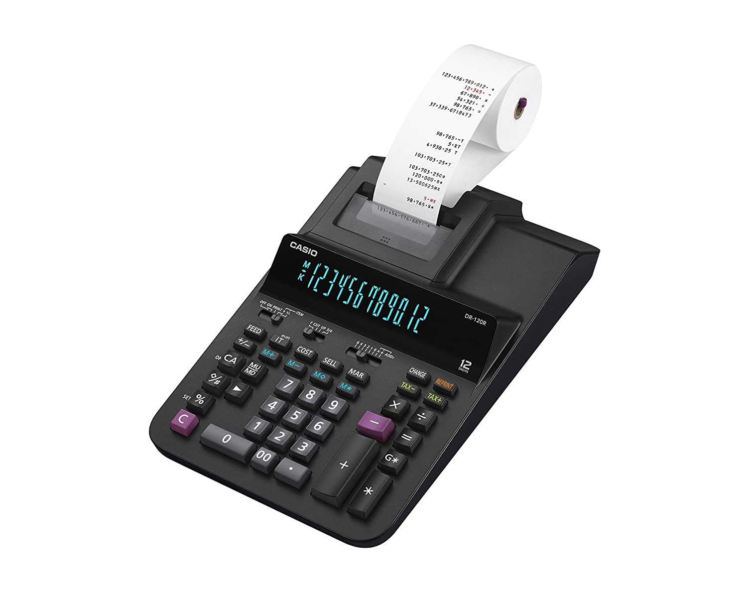 Casio Office Products DR-120R Full-Sized Printing Calculator Black