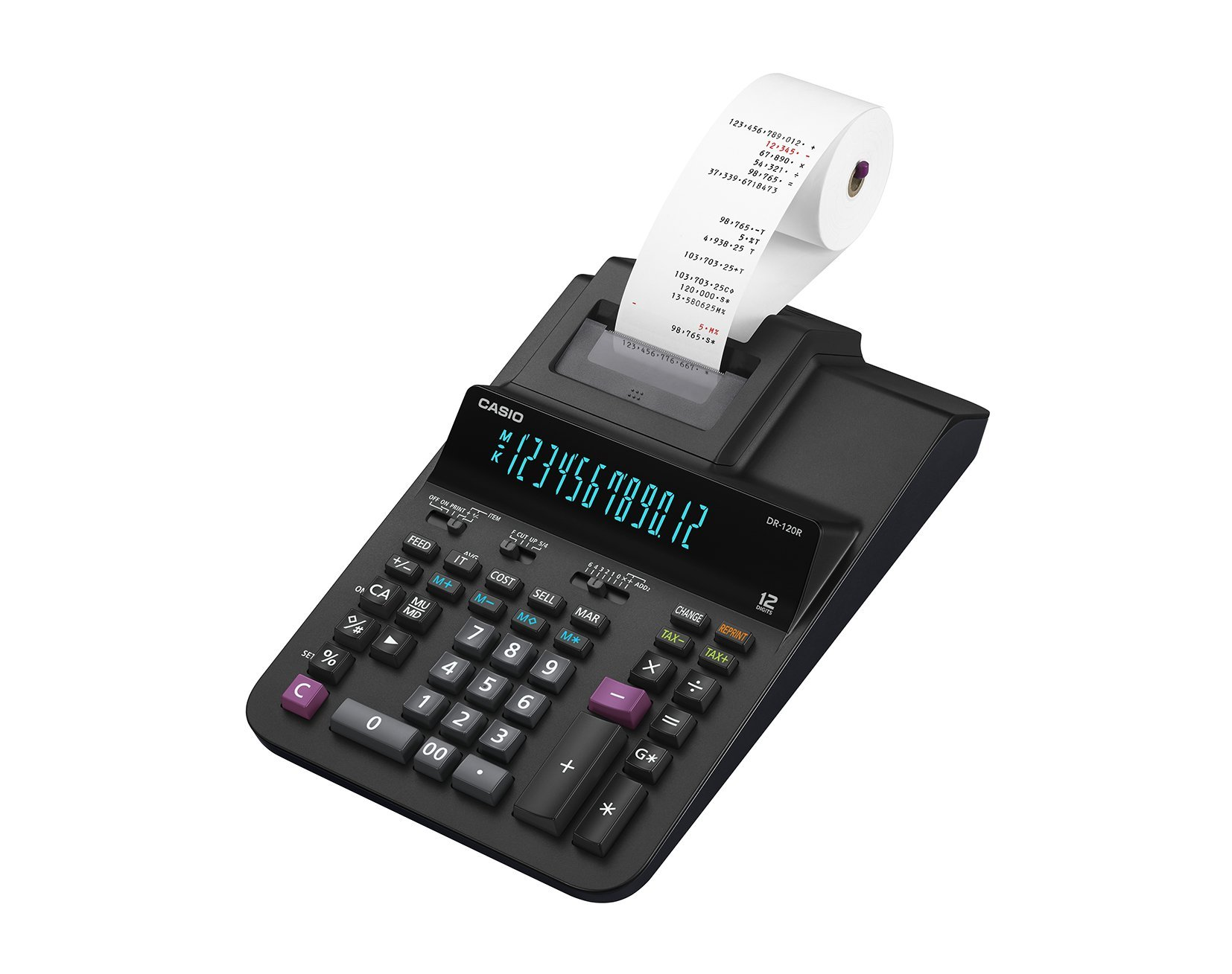 Casio Office Products DR-120R Full-Sized Printing Calculator, Black by Casio Office Products (Image #2)