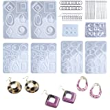 LET'S RESIN 198PCS Resin Jewelry Molds, with 8 Pairs Earring Resin Molds, 2pcs Stud Earring Resin Molds for Jewelry, Earring