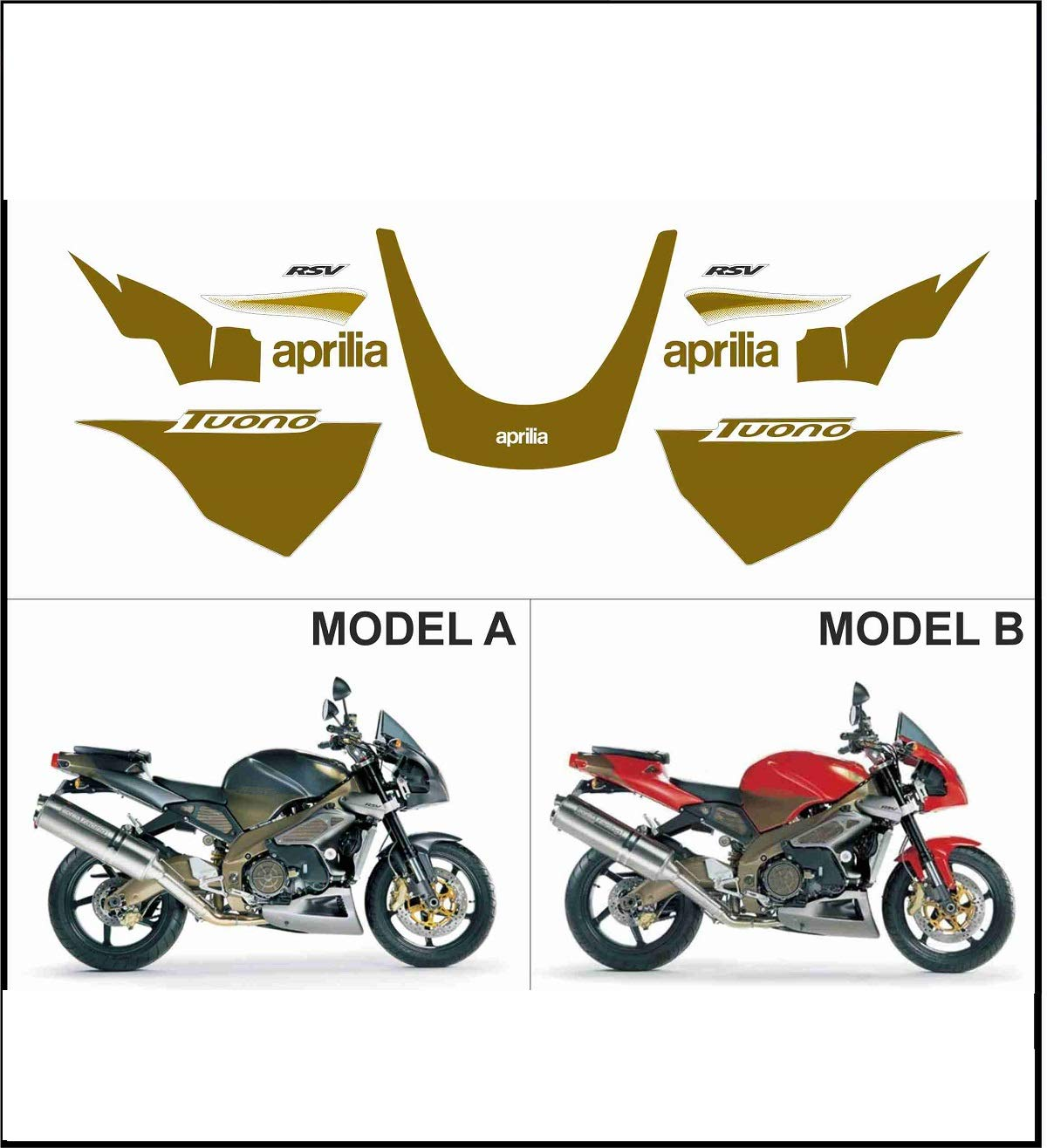 Kit adesivi decal stikers aprilia tuono 1000 2003 (ability