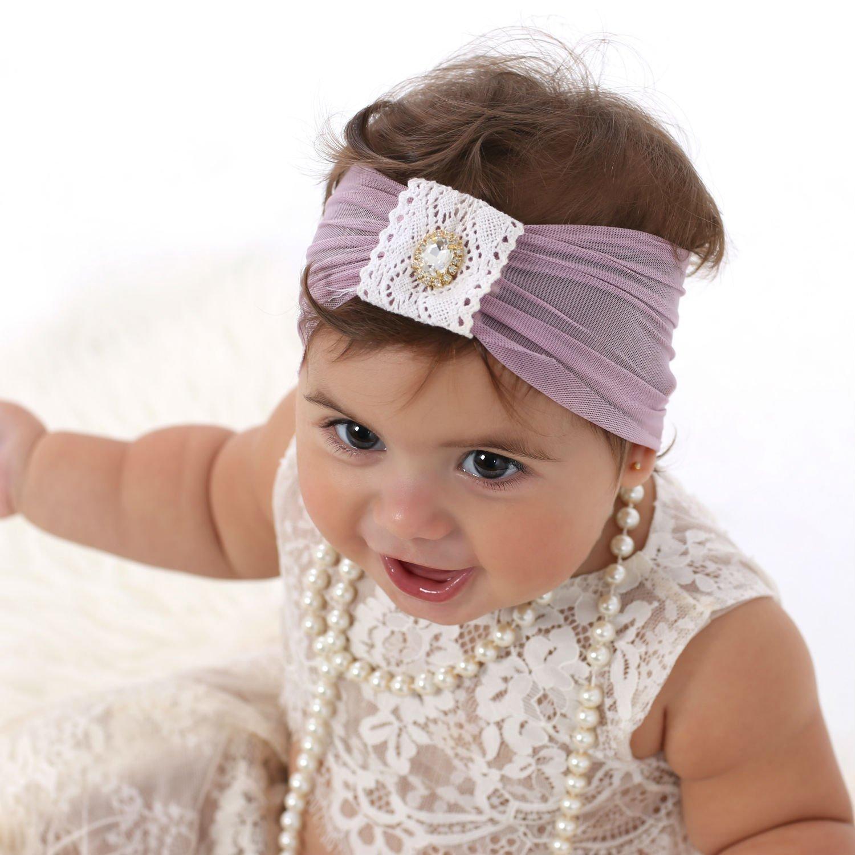 Amazoncom Handmade Purple Baby Headband By Yasmine Newborn