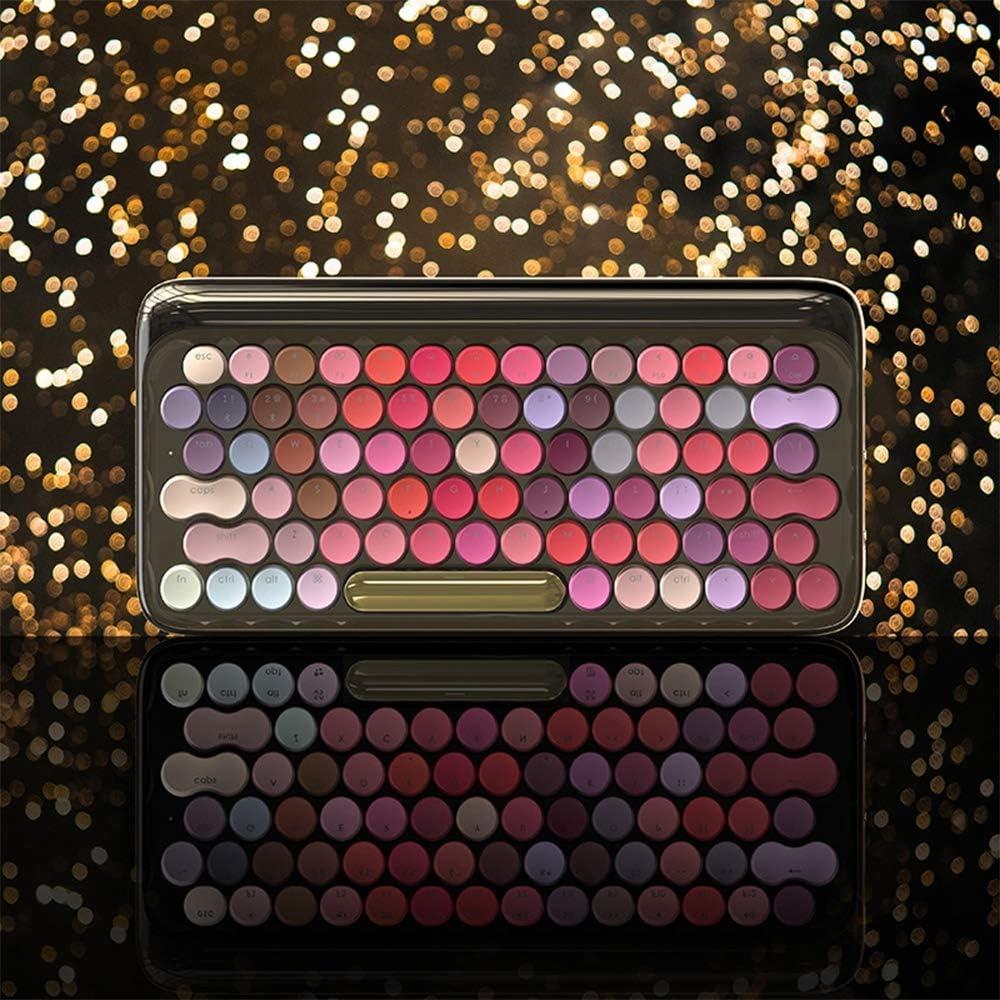 New Bluetooth Keyboard Dual Mode Fashion Dot Lipstick Mechanical Keyboard for Apple Mac Gaming Keyboard