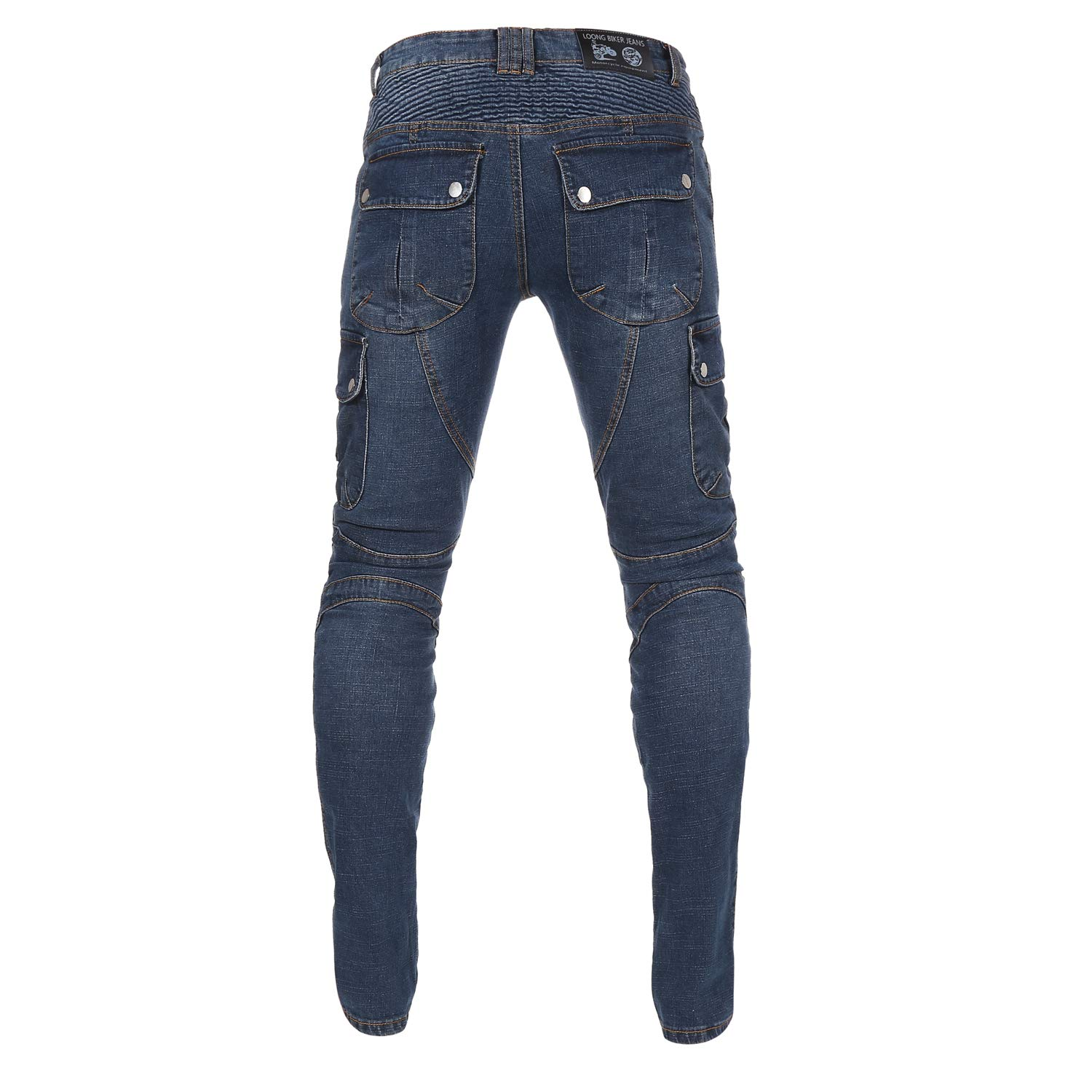 M=30=Waist 32 Mens Motorcycle Motorbike Riding Jeans with Lining CE Approved Overpants