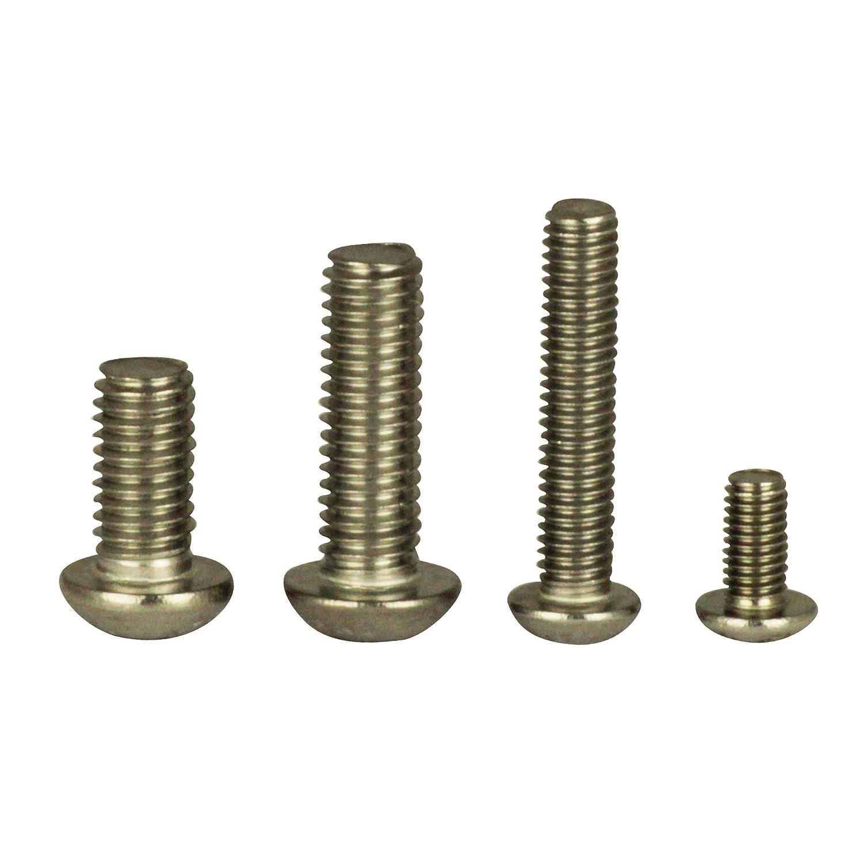 ISO 7380 en acier inoxydable A2 Lot de 20 vis /à t/ête bomb/ée M3 X 3 /à M12 X 120 avec six pans