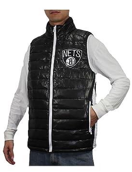 NBA Hombre Brooklyn Nets Pro Calidad Zip Up Wind Densidad Chaleco/Chaqueta, Hombre, Negro: Amazon.es: Deportes y aire libre