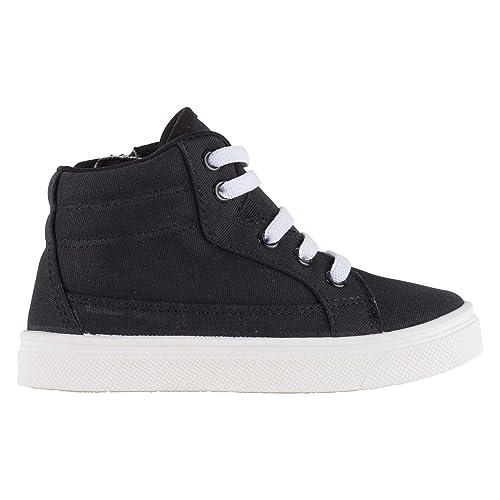 5425b7f55672 Oomphies Tyler Boys Elastic Stretch Lace Black High-Top Shoe