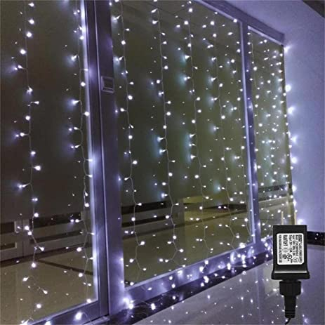 Amazon.com : AMARS Bedroom Wedding String LED Curtain Lights ...