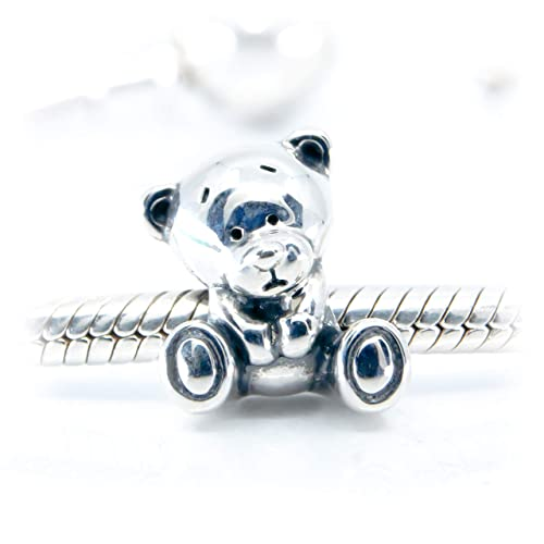 Details about  /Vintage handmade bigger flat 3D Teddy Bear 925 Sterling Silver cute Charm Pend.