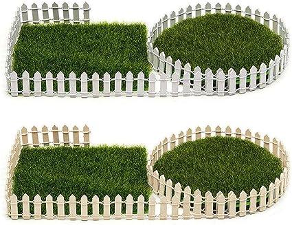 Details about  /10pcs DIY Miniature Wood Fence Poultry Farm Toys Garden Ornaments Decor