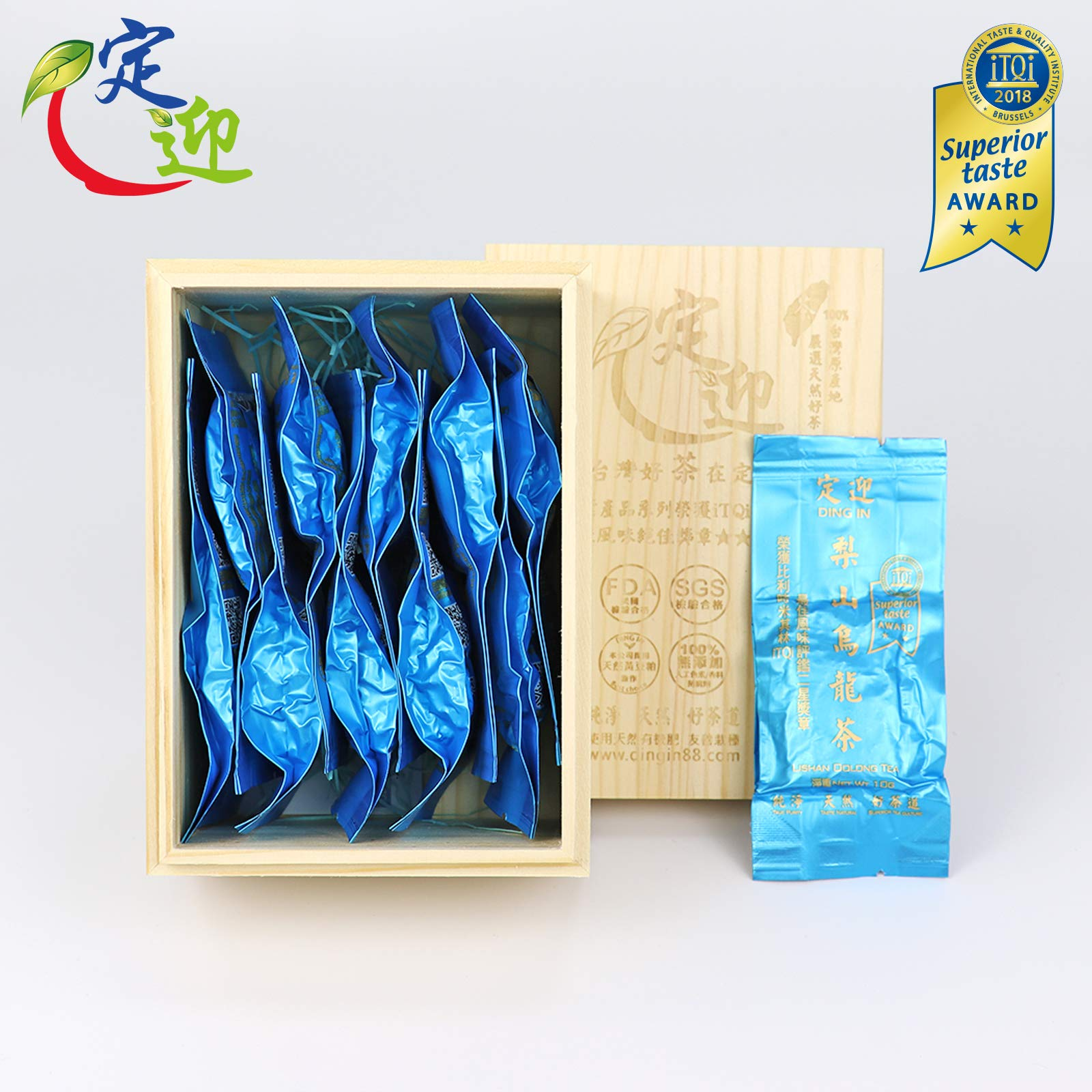 DING IN Lishan Oolong Tea Pine Box 10g10/box by Ding In ltd. (Image #1)