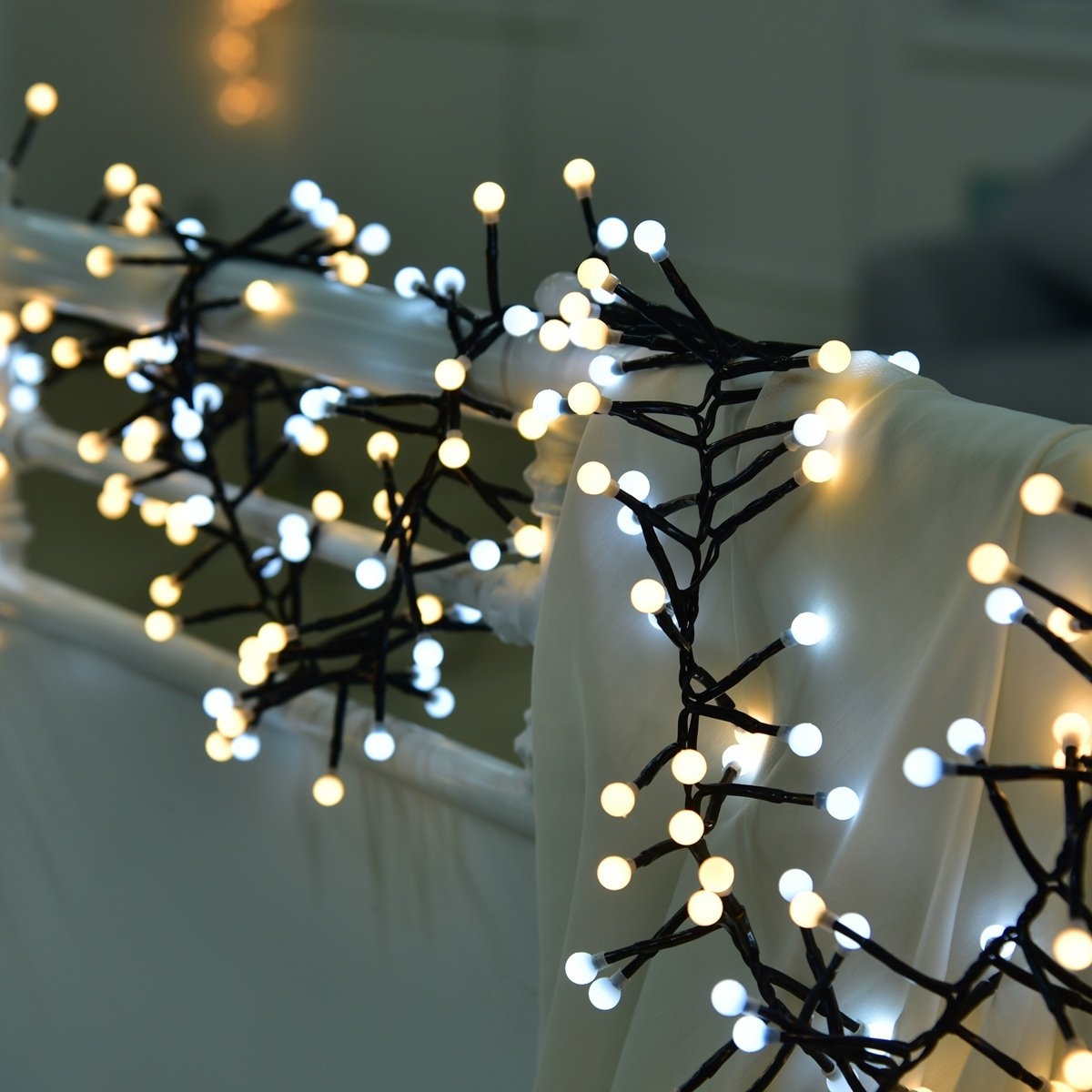 91d162dac80 Luces De Navidad YMing LED Coloreado 8 Modos 9.8Ft 400 Bombillas