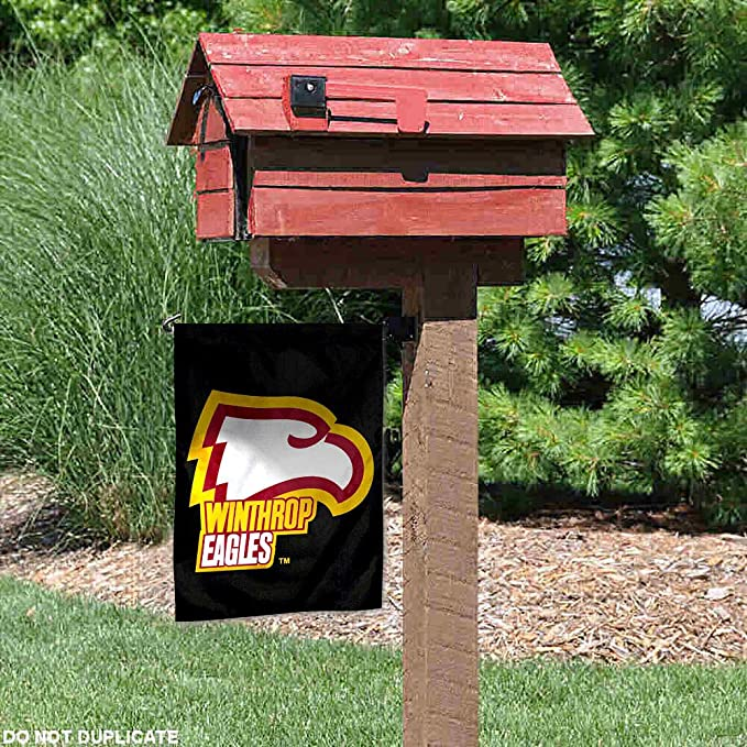 NCAA Winthrop Eagles Car Flag Red with White Pole