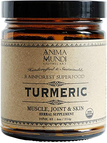 Anima Mundi Organic Heirloom Turmeric – Turmeric Root Powder to Support Muscles Skin 4oz 114g