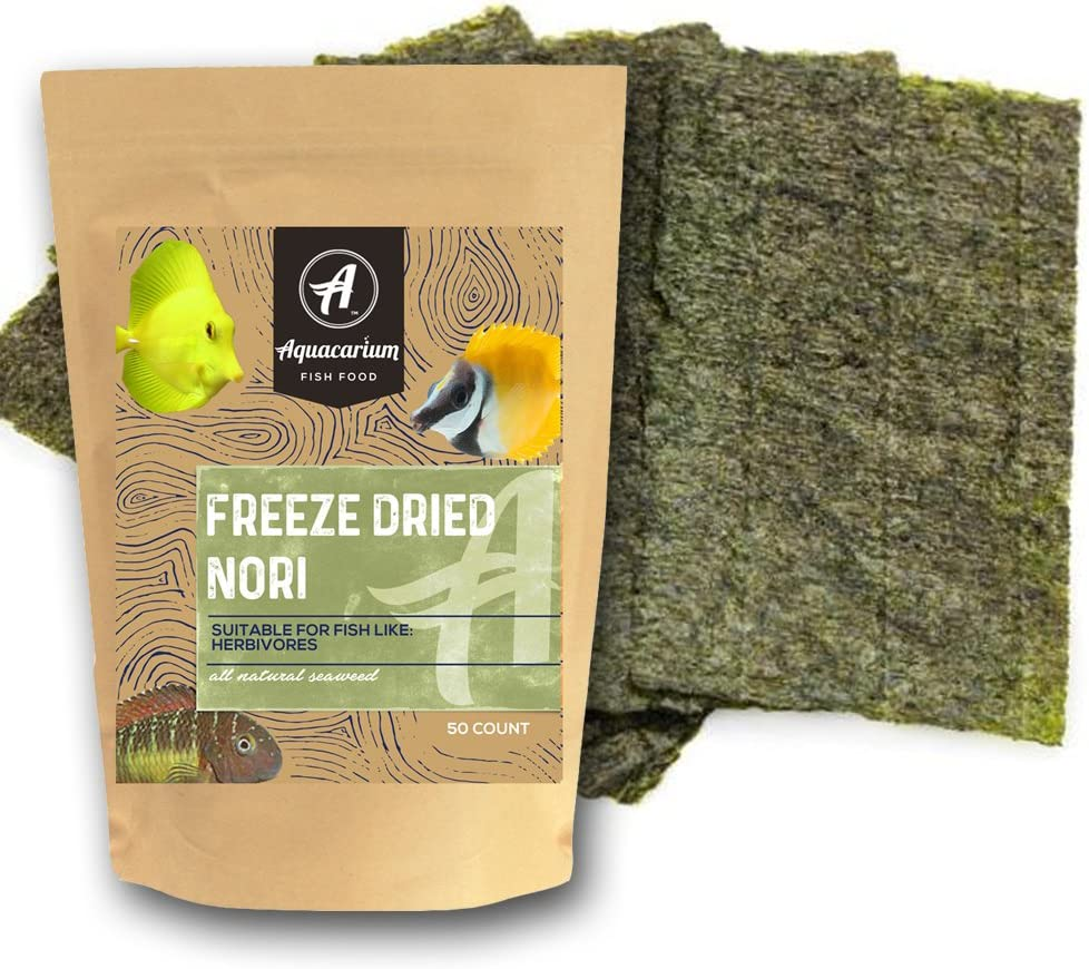 Aquacarium Nori Seaweed Sheets Dried Bulk Marine and Tropical Fish Food