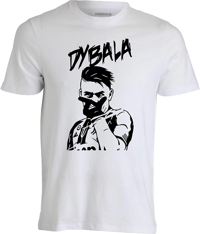La Joya T-Shirt Maglietta Paulo Dybala 10 100/% Cotone Bianca o Nera Esultanza Dybala
