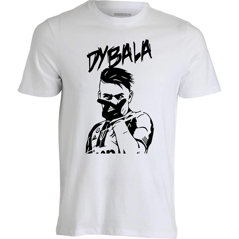T-Shirt Maglietta Paulo Dybala 10 La Joya Esultanza Dybala 100/% Cotone Bianca o Nera