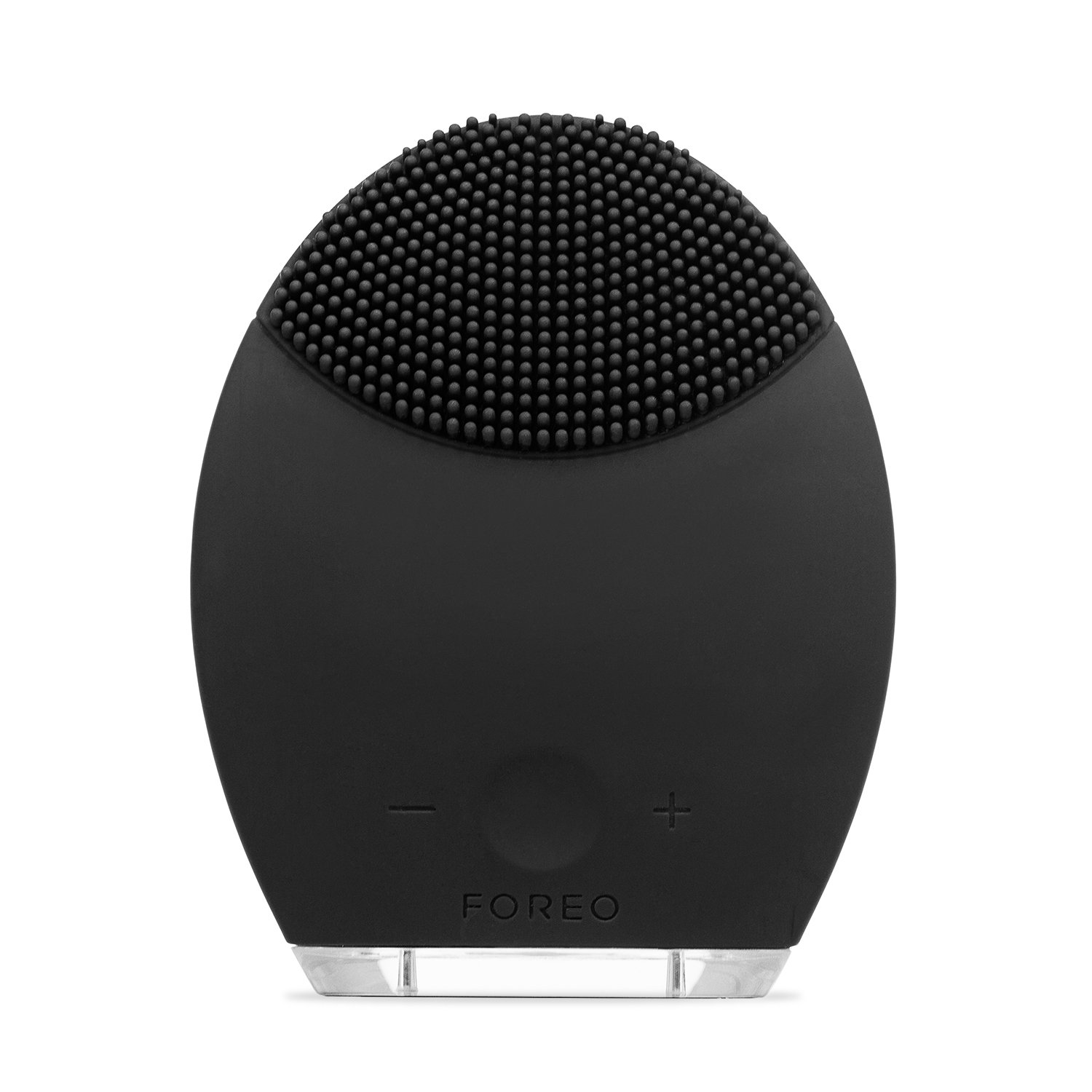 FOREO LUNA Silicone Cleansing Brush and Preshave Device for Men, Black