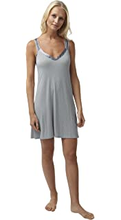Ladies BHS Soft Jersey Satin Trim Chemise Nightdress. Grey Ivory Spot. Sizes  8 10 12 14… 180c03f68
