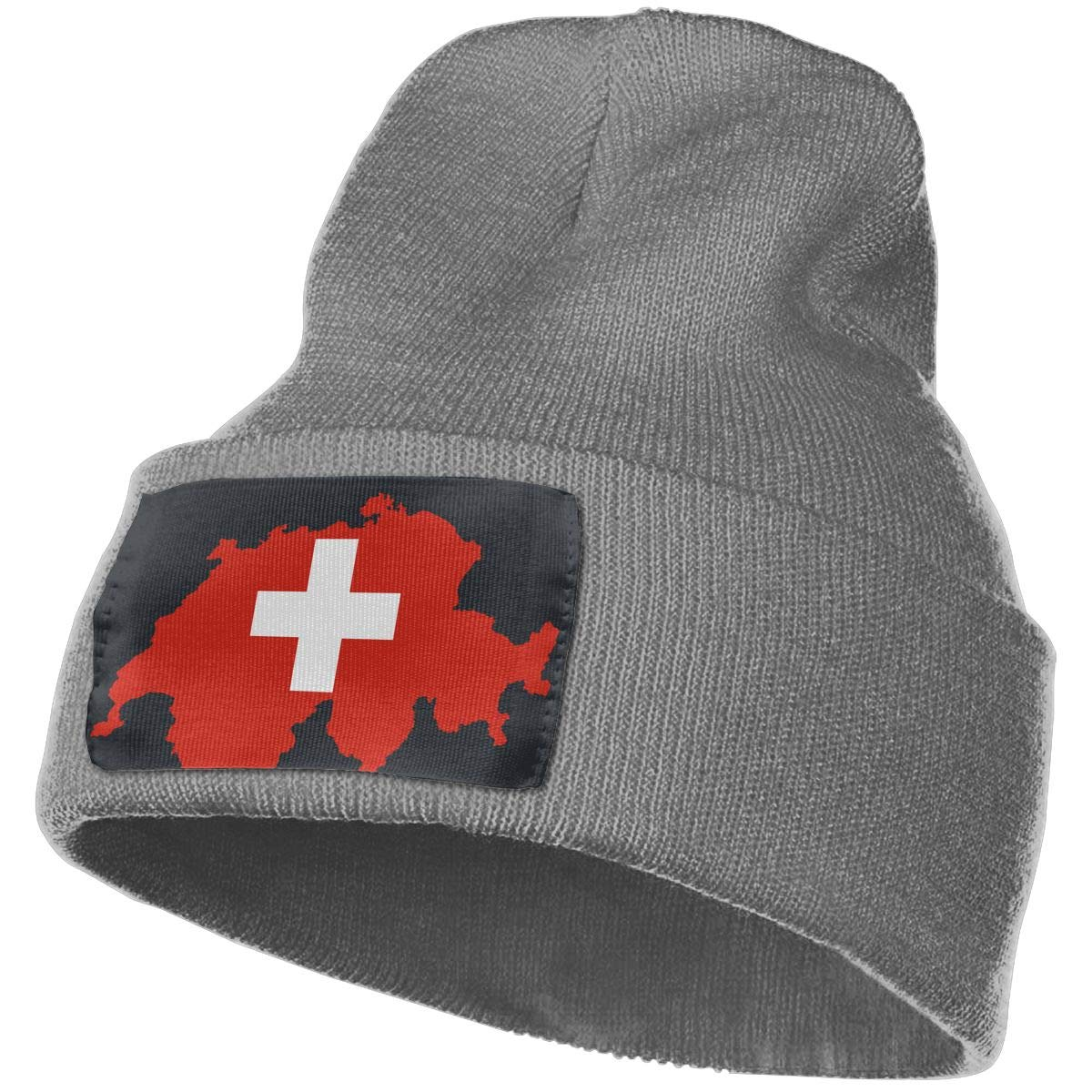 MaoXCatt Flag-map of Switzerland Unisex Winter Soft Beanie Cap